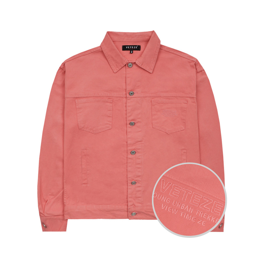 Basic Trucker Jacket (Indi Pink)