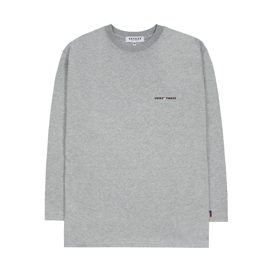 [M사이즈 9월27일 예약발송][New Color] Time Long Sleeve (gray)
