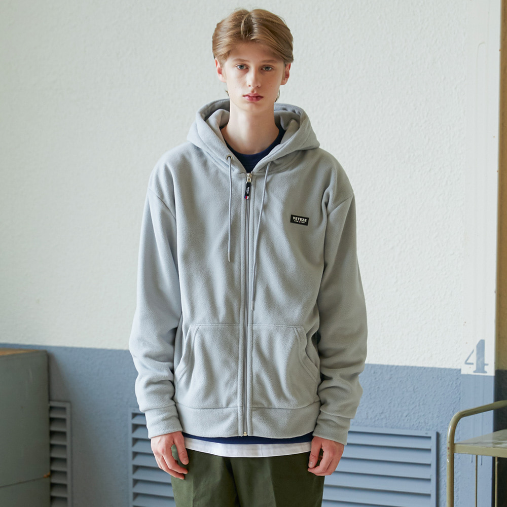 [예약주문/10월4일 발송]Basic Fleece Hood Zipup (gray)