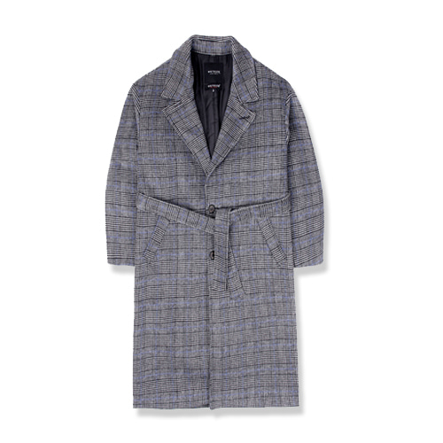 Heavy Wool Single Coat (blue gray)(VB4CT004)