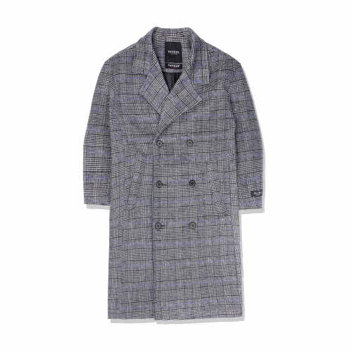 Heavy Wool Over Coat (blue gray)(VB4CT004H)