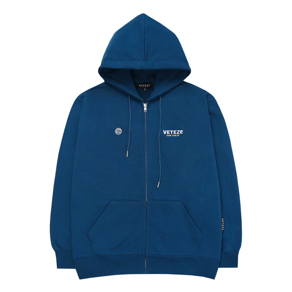 Circle Logo Hood Zipup (Deep Blue)