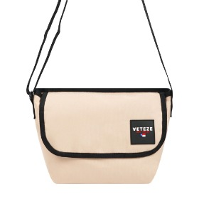 [바캉스 기획전]Retro Mini Cross Bag (Beige)