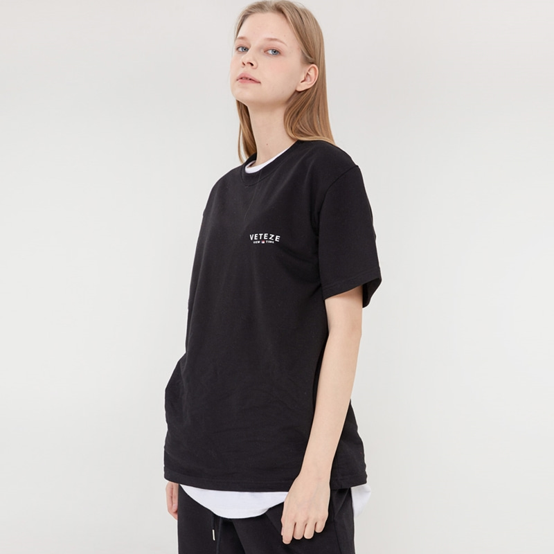 [M사이즈 5월28일 출고예정]Signature Logo Half T-Shirts (black)