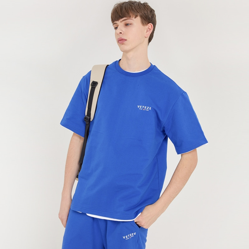 Signature Logo Half T-Shirts (blue)