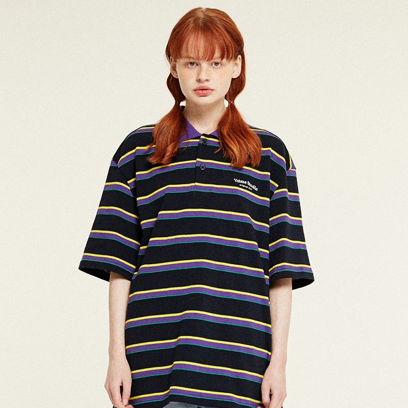 [6월8일 출고예정]Studio PK Stripe T-Shirts (navy)