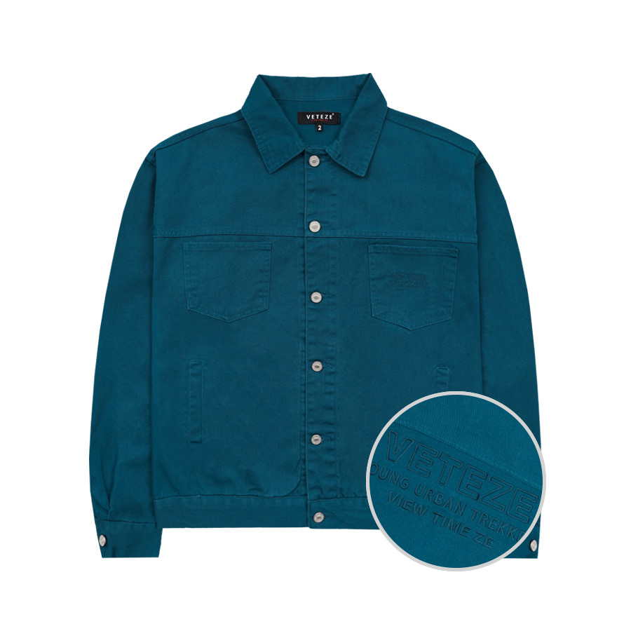 Basic Trucker Jacket (Blue Green)